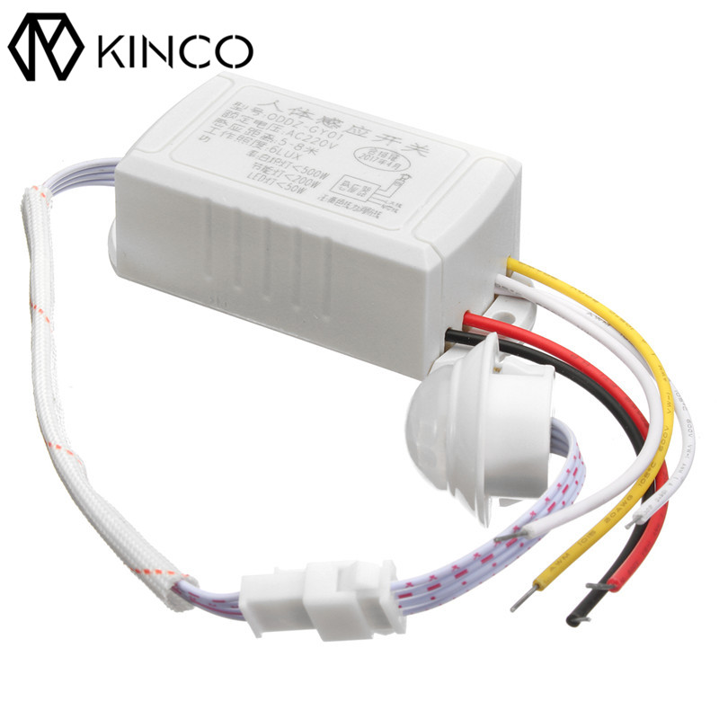 Newest !! Hot Sale Best Promotion 220V 5-8M IR Infrared Body Motion Sensor Automatic Intelligent Light Lamp Control Switch