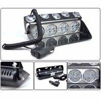 CYAN BODEN BAY 48 Watt Polizei Lichter 16 LED Rot/Blau Autosauger Röhrenblitz-blitz-licht Dash Notfall blinkende Lichter 12 V