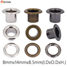 100set 8mm Metal Black Nickel Bronze Eyelets with Grommet For Leathercraft Shoe Belt DIY Scrapbook Cap Bag Tag Clothes Accessory