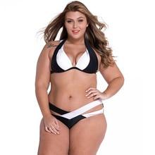 GI FOREVER Plus Size 3XL Bikini Set Swimwear Women 2017 Brazilian Summer Bandage Cross Push Up Bikini Swimsuits Maillot De Bain