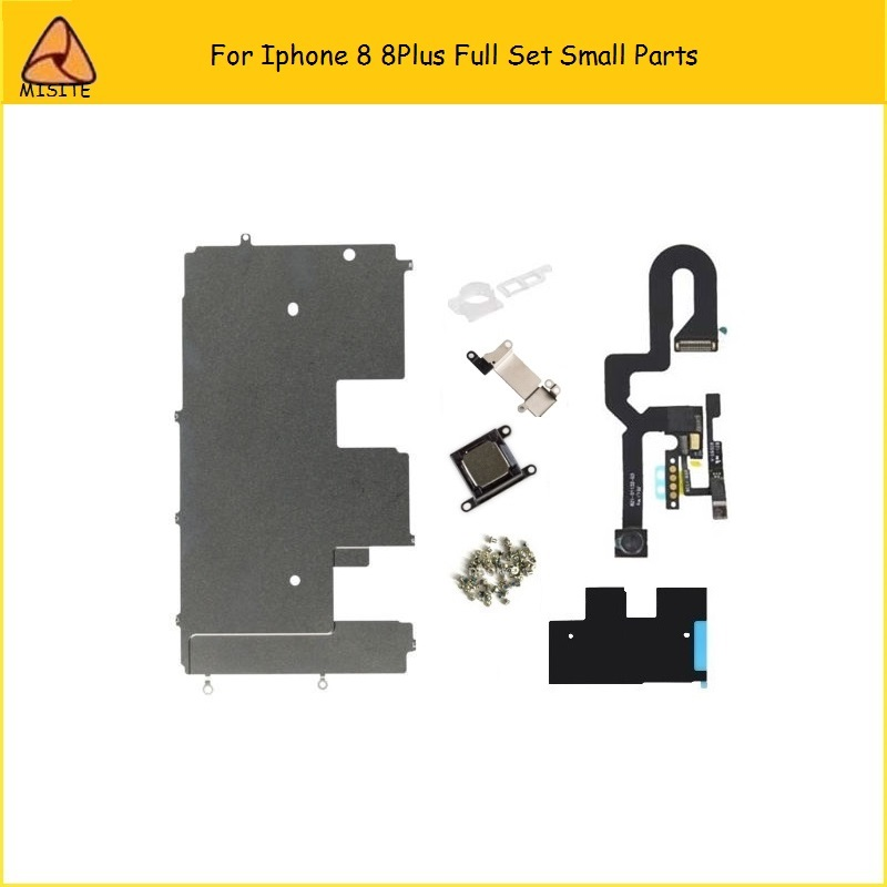 High Quality Phone 8 8Plus Full Set Small Parts For Iphone 8 8Plus 8G 8P Front Camera Flex+Earspeaker Flex+Back LCD Metal Shield
