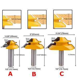 Image 2 - 45 Degree Lock Miter Router Bit 6.35mm/8mm/12.7mm Shank Wood Tenon Milling Cutters For MDF Plywood Carpenter Woodworking Tools