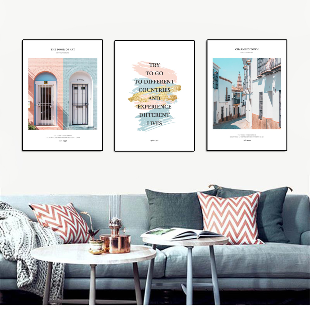 Inspiring Words Modern Posters And Prints Letters Wall Art Pictures ...