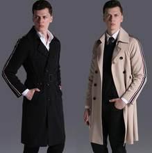Winter Wollmantel Britischen Stil Männlichen Herren Lange Kaschmir 2018 Großhandel Mantel Schwarz Benutzerdefinierte Größen Luxus Trenchcoat 2EIDH9