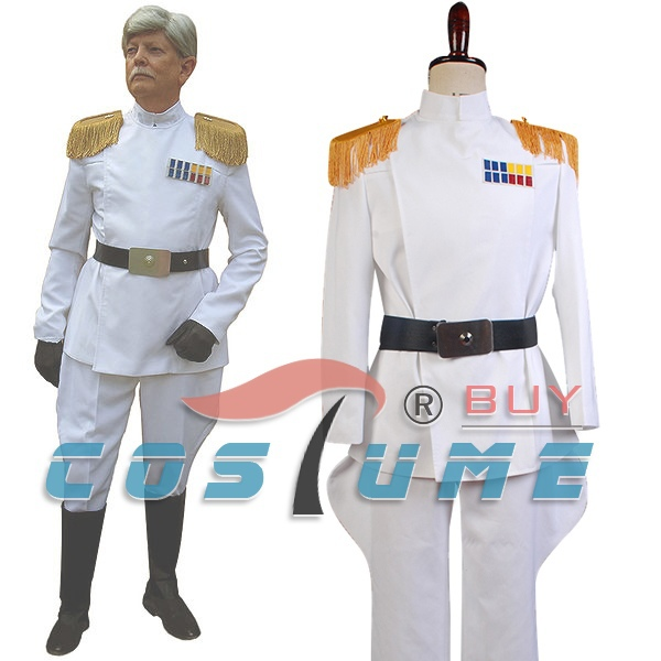 Star Wars Imperial Officer Grand Admiral Thrawn Cosplay Costume White Officer Uniform