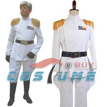 Imperial Officer Grand Admiraal Thrawn Cosplay Kostuum Wit Officer Uniform(China)