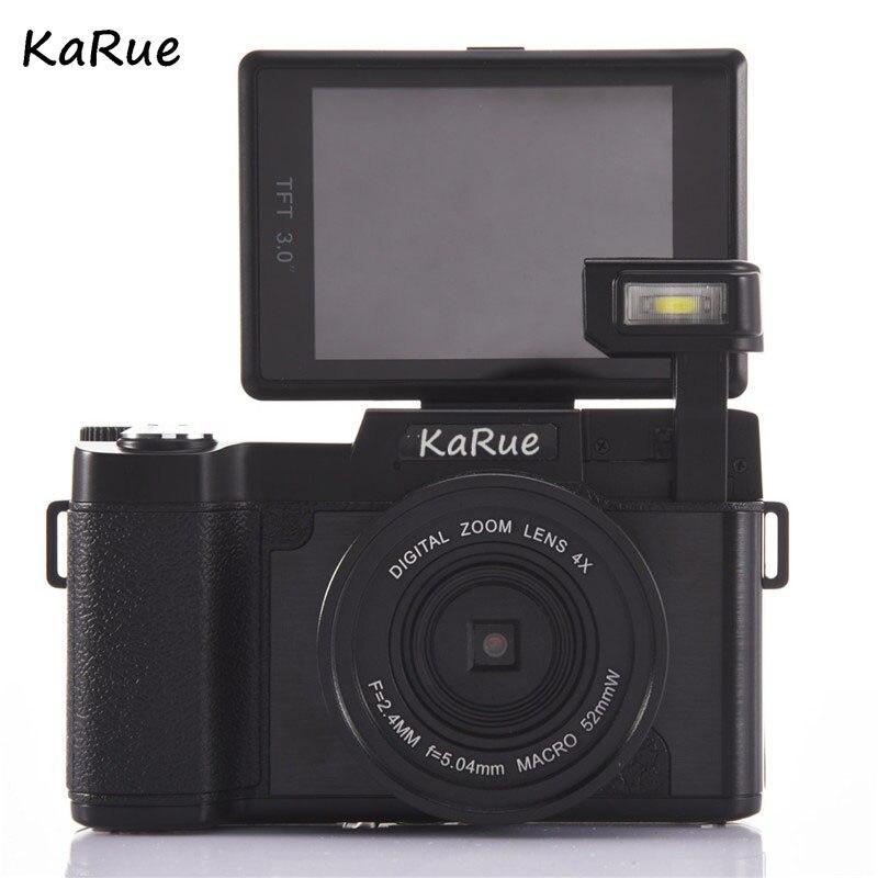 Caméra numérique KARUE CDR2 caméscope vidéo 3 pouces écran TFT filtre UV 0.45X objectif grand Angle Max 24MP