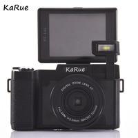 KARUE CDR2 Digitale Camera Video Camcorder 3 inch Tft-scherm UV Filter 0.45X Super Groothoek Lens Max 24MP