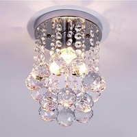 Mini Modern Crystal Chandeliers Flush Mount Rain Drop Decorative Light For Girls Room Bedroom 6 29Inch