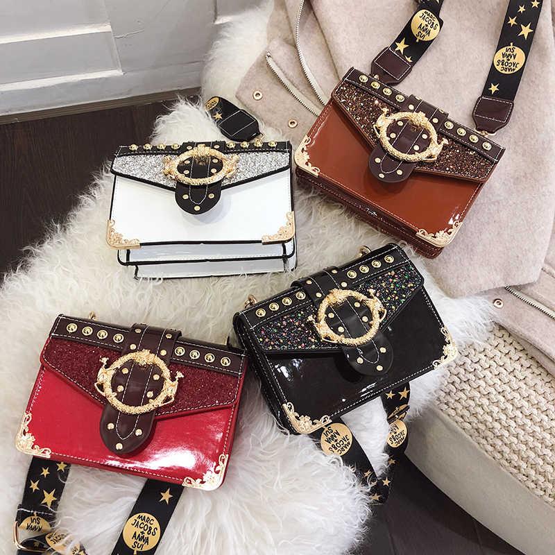 Роскошные сумки женские сумки дизайнерские Аллигатор маленькие квадратные сумки через плечо для женщин 2019 Ретро Женские сумки через плечо