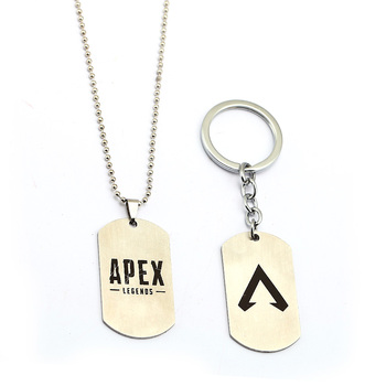 Game Apex legends Necklace Keychains metal Action Toys Stainless steel apex Key chain Kids Toys 2