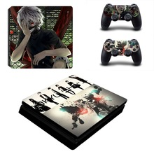 Anime Tokyo Ghoul PS4 Slim Skin Sticker Decal Vinyl for Sony Playstation 4 Console and 2 Controllers PS4 Slim Skin Sticker