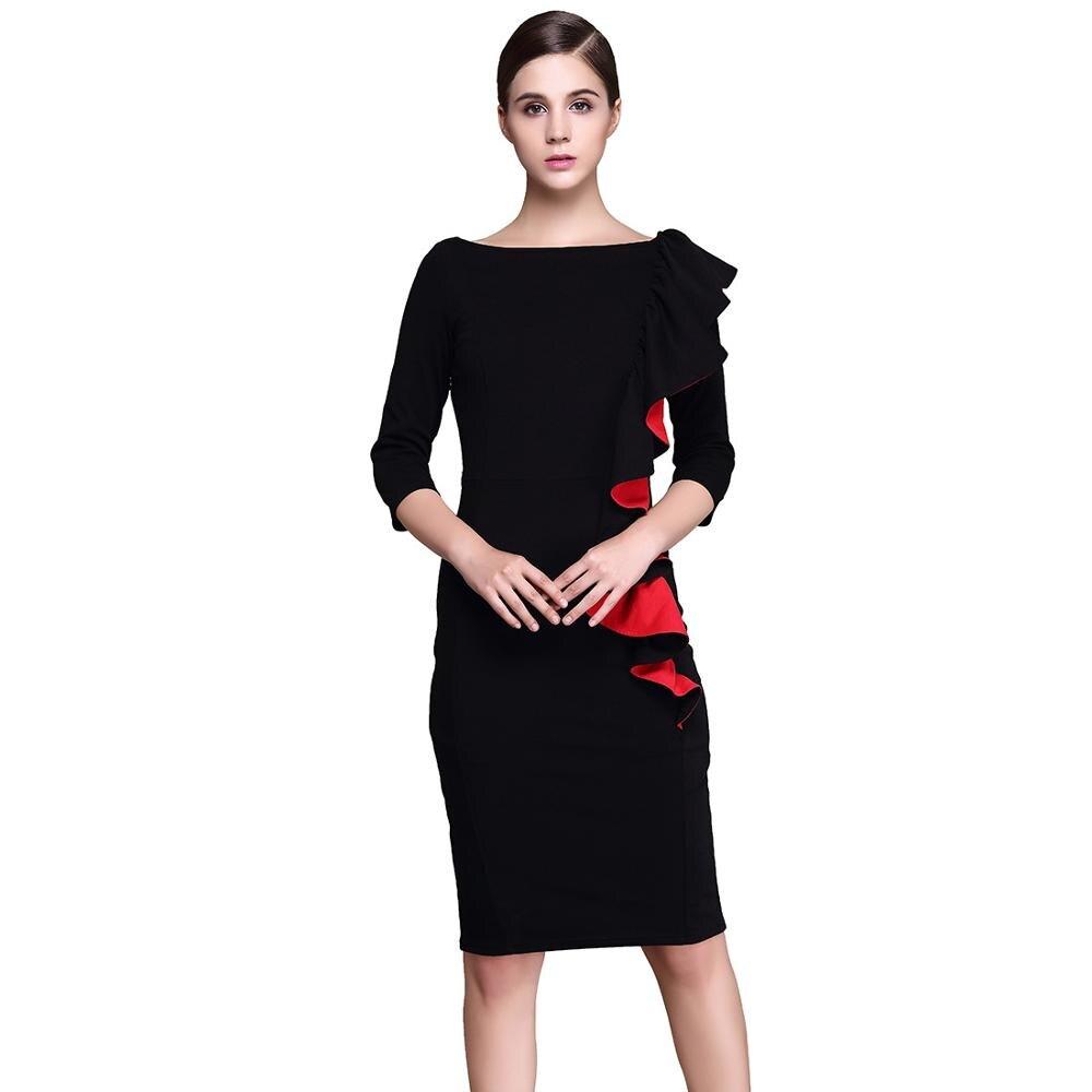 787aa48dd556 Новые европейские модные пикантные Круглый воротник пункт оккупация платье  футляр