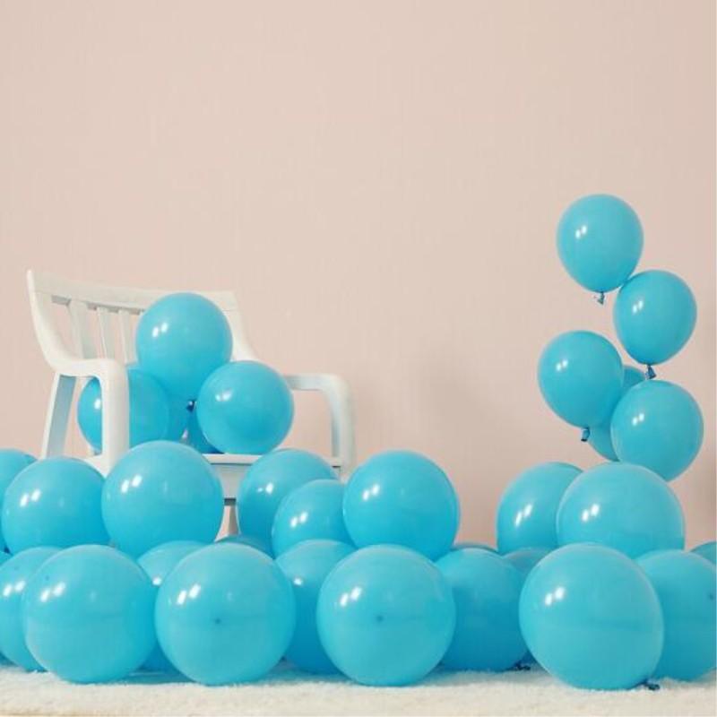 White Blue /& Light Blue Latex Balloons helium//air quality for birthday wedding