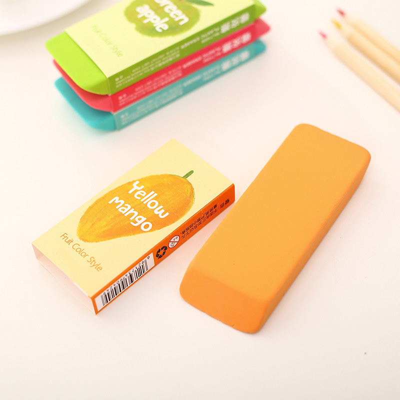 Cute Candy Color Rubber Eraser Kawaii Large Fruit Erasers For Pencil Kids Gift Art Student Korean Stationery School Supplies