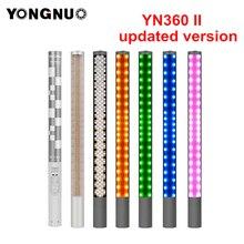 Yongnuo YN360 YN360 II Handheld Eis Stick LED Video Licht gebaut in batterie 3200k zu 5500k RGB bunte gesteuert durch Telefon App