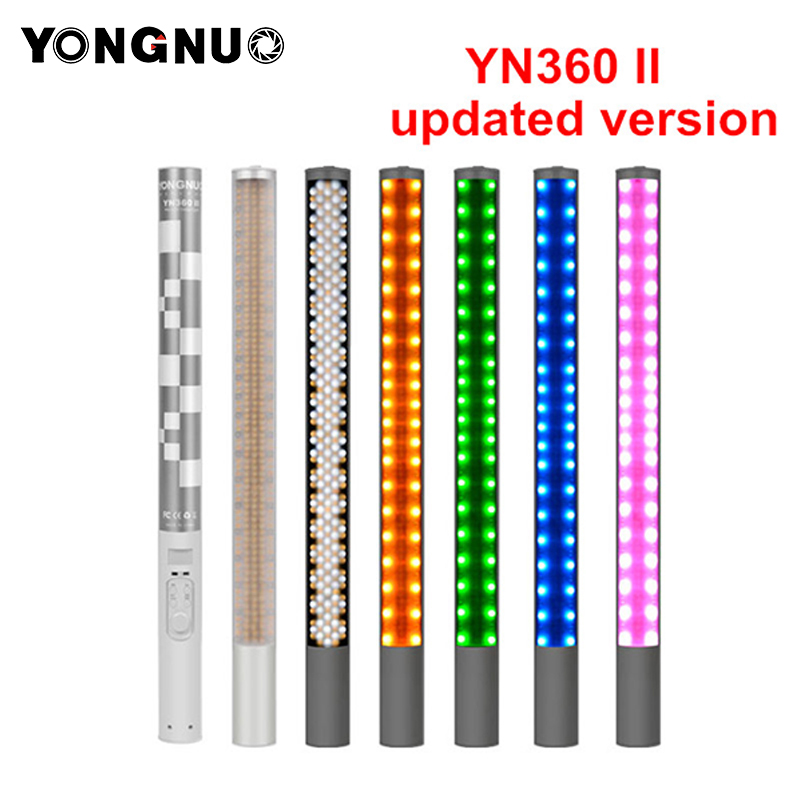 Yongnuo YN360 YN360 II Handheld Ice Stick LED Video Light built-in battery 3200k to 5500k RGB colorful controlled by Phone App yongnuo yn360ii yn360 ii led video light handheld ice stick photo lamp bicolor 3200k 5500k with rgb controlled by phone app