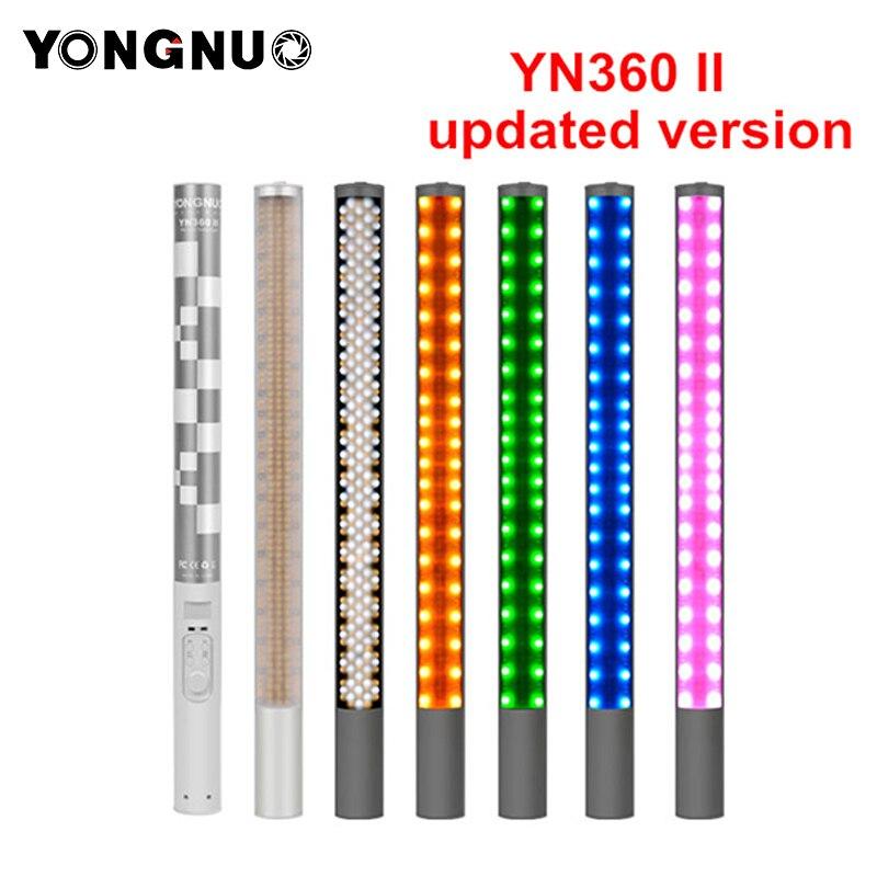 Yongnuo YN360 YN360 II Palmare Bastone di Ghiaccio HA CONDOTTO LA Luce Video batteria built-in 3200 k a 5500 k RGB colorful controllato per Telefono App