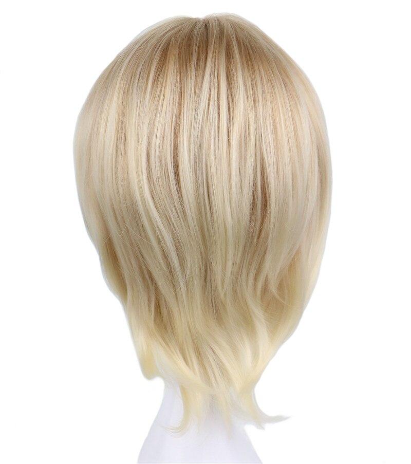 QQXCAIW Σύντομη σγουρά αρσενικά Cosplay - Συνθετικά μαλλιά - Φωτογραφία 3