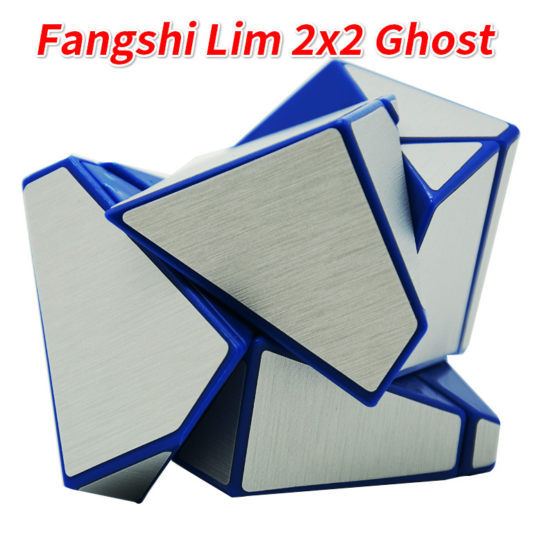 Puzzles & Games Toys & Hobbies Clever Fangshi Lim 2x2 Ghost Guimo Cube Blue Base With Black/silver/green Sticker Speed Cube Puzzle Educational Toys Gh-ost-cube Invigorating Blood Circulation And Stopping Pains