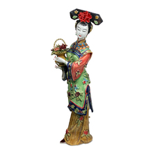 Antique Chinese Lady Ceramic Statue Chunyi Pure Manual Figure Craft Collectible Porcelain Figurine Christmas Vintage Home Decor