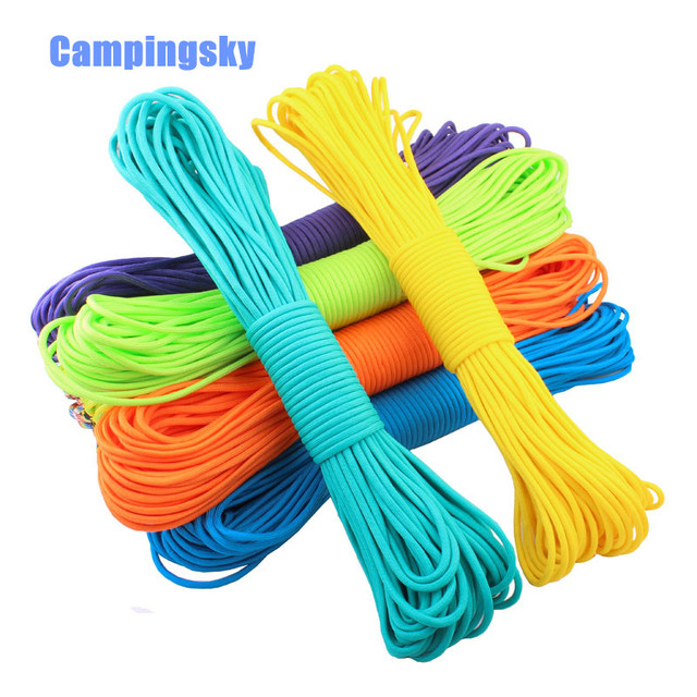 CAMPINGSKY Paracord 550 Parachute Cord Lanyard Rope Mil Spec Type ...