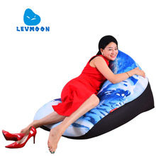 LEVMOON Beanbag Sofa Chair  snow-capped Seat Zac Comfort Bean Bag Bed Cover Without Filler Cotton Indoor Beanbag Lounge Chair