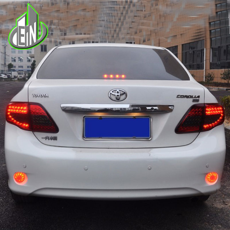 EN Car Styling For Toyota Corolla Tail Lights 2007-2010 Corolla LED Tail Light Altis LED Rear Lamp DRL+Brake+Park+Signal new for toyota altis corolla 2014 led rear bumper light brake light reflector novel design top quality fast shipping