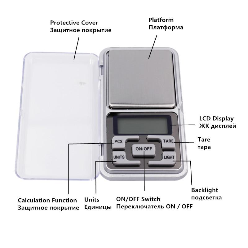 Cena fabryczna Nowość 500g / 0,01 g Mini elektroniczna biżuteria - Przyrządy pomiarowe - Zdjęcie 3