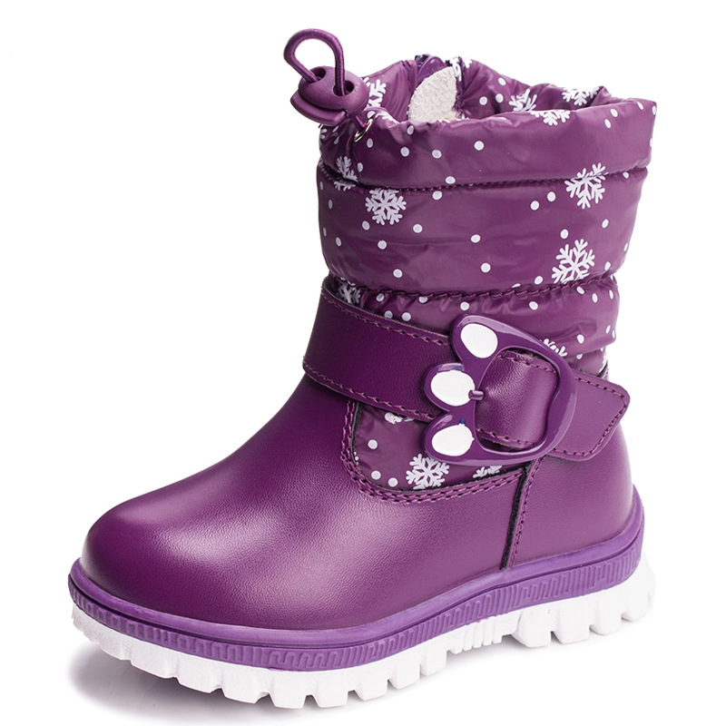 Childrens shoes in the bottom of cotton boots autumn winter thickening warm snow boots w ...