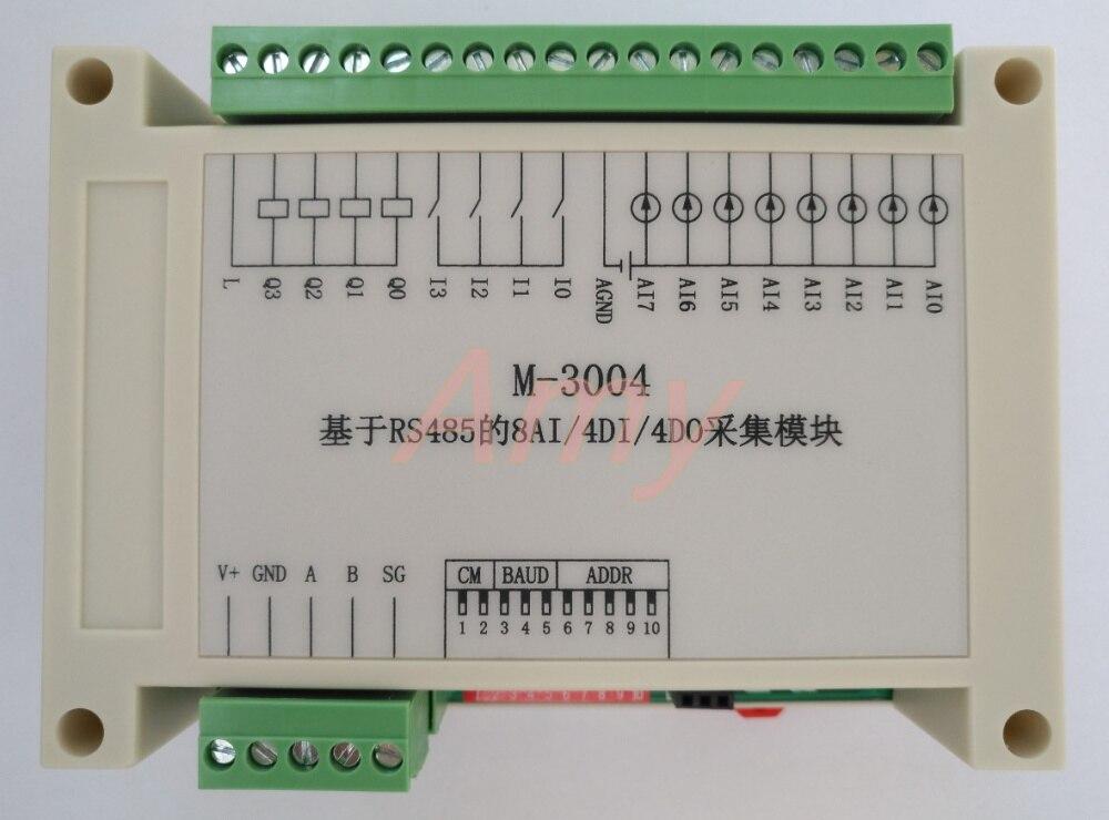 M-3004: RS485 based 8AI/4DI/4DO acquisition module (hybrid)M-3004: RS485 based 8AI/4DI/4DO acquisition module (hybrid)