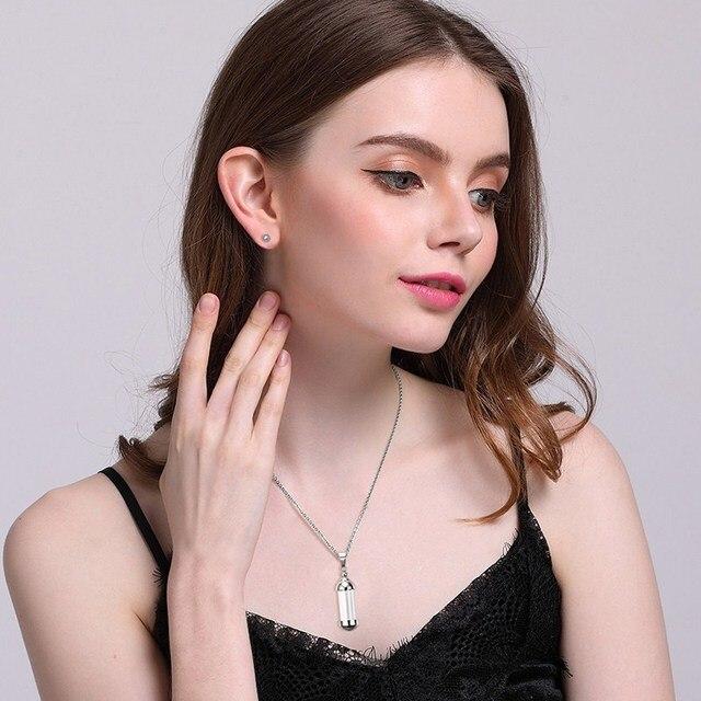 Купить 316l съемное ожерелье с подвеской в виде бутылки водой женский