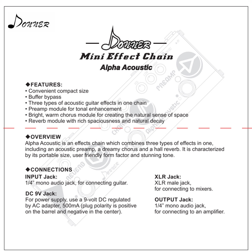 Detail Feedback Questions About Donner Mini Effect Chain Alpha
