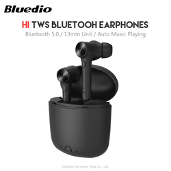 Original Bluedio Hi TWS Wireless Bluetooth Earphone 5.0 Stereo Sound In-ear Earbuds with Charging Box for Sports