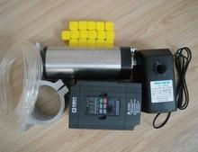 CNC шпинделя комплект ER11 1.5KW водяного охлаждения двигателя шпинделя + 1.5kw инвертор + ER11 цанги + поддержка шпинделя + вода насос + водопровод