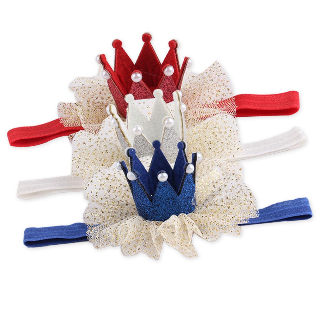 Kids Child Girls Party Hair Crown Headwear Pearl Princess Barrette Ribbon Hair Accessories in Hair Accessories from Mother Kids