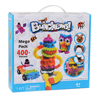 400pcs Kid Educational Assembling 3D Puzzle Toys DIY Puff Ball Squeezed Variety Shape Creative Handmade Toy