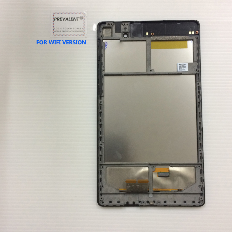 For ASUS Google Nexus 7 2nd 2013 FHD ME571 ME571K ME571KL K008 K009 Touch Screen Digitizer + LCD Display Panel Assembly + Frame lcd display touch screen digitizer with frame for asus google nexus 7 ii 2nd 2013 me571kl k009 nexus7c lte 4g 3g lcd assembly