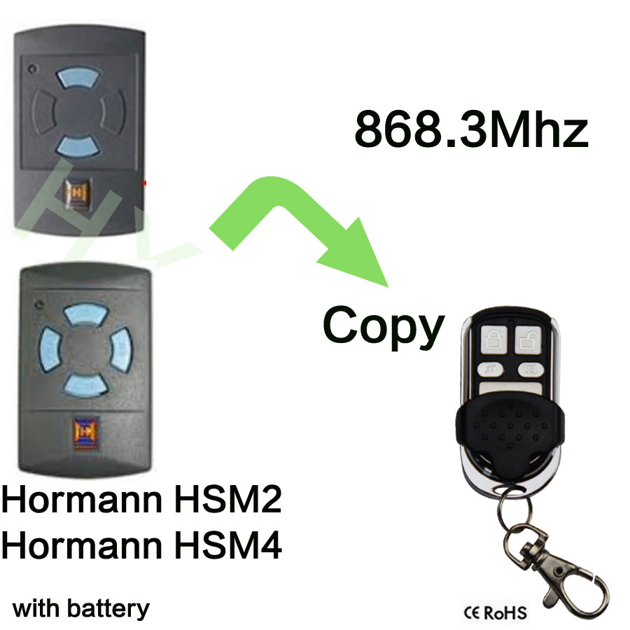 868.3Mhz Electric Garage Door Remote Control For Hormann HSM4 Clone replacement remote for hormann hsm2 868 hsm4 868mhz