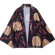 Samurai Crane Japanese Style Kimono Haori Men Women Cardigan Chinese Dragon Traditional Clothing Asian Clothes Shirt 4