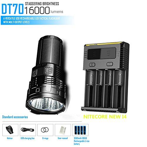IMALENT DT70 4 х CREE XHP70 16000LM светодио дный фонарик проекционное расстояние 700 м Поиск фонарик + NITECORE Новый I4 зарядное устройство