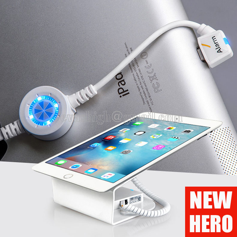 10xTablet secuirty holder ipad security stand samsung tablet blurglar alarm anti theft display for retail shop can charging wholesale price mobile phone anti theft alarm display stand with charging for exhibition
