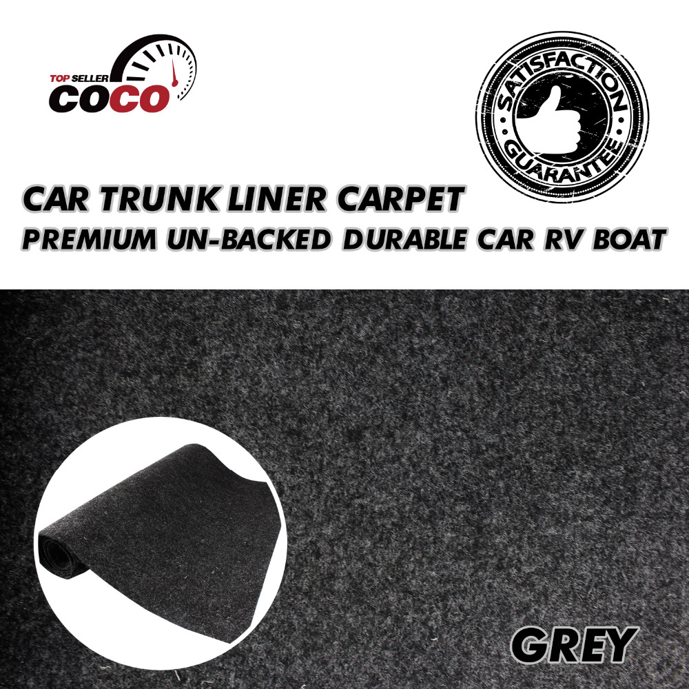 Grey Insulation Covers Carpet Noise Control waterproof Car Boat RV Underfelt Speaker Box Cabinet Mat 8