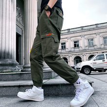Large Sizes Men Cargo Pants Multi-Pocket Men's Pants Elastic Waist Casual Pants Men Pantalones Hombres цена