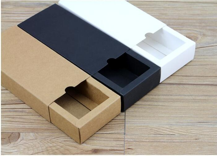 Us 8 52 9 Off 10pcs Black Sliding Gift Box For Wedding Favor Gift Packaging Cardboard Box Kraft Brown Lid Box Cheap Gift Box In Gift Bags Wrapping