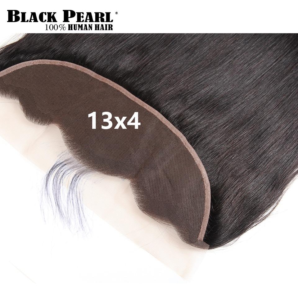 Melna pērle pirmskrāsaina mežģīņu frontālā slēgšana ar - Cilvēka mati (melnā krāsā) - Foto 4