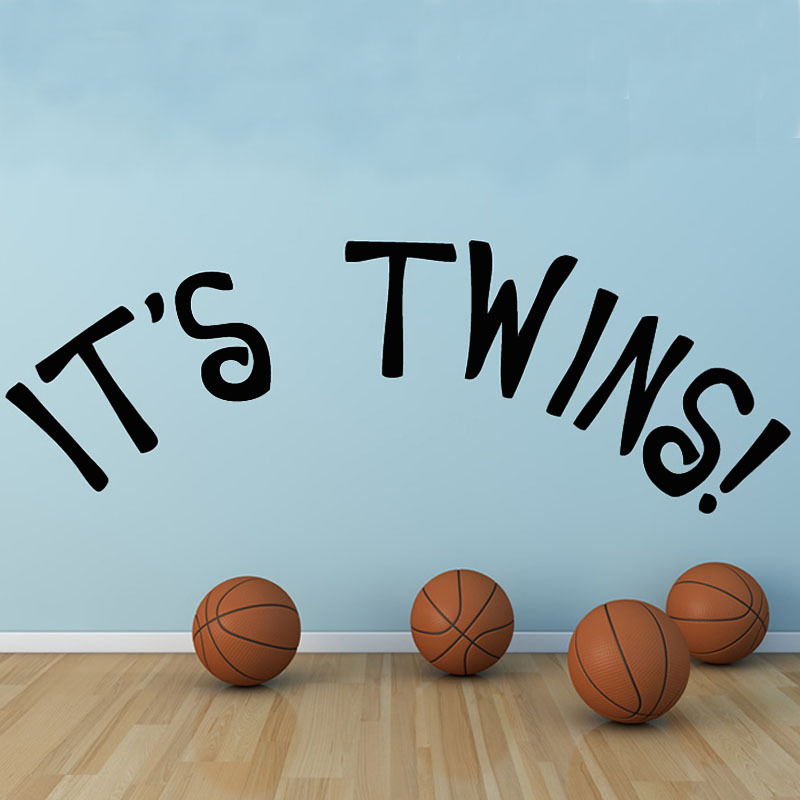 its twins wall sticker baby room decor diy removable vinyl lettering bedroom decorationchina