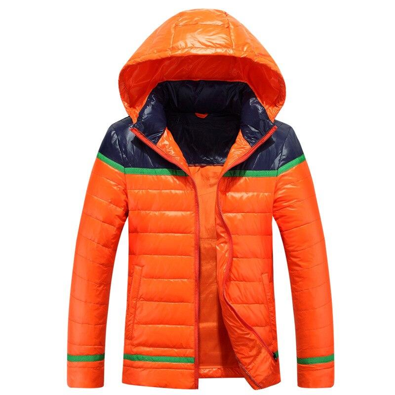 Men lightweight down jacket Korean hooded outwear Windbreaker Windproof warm Jackets Down Coats parka Plus size