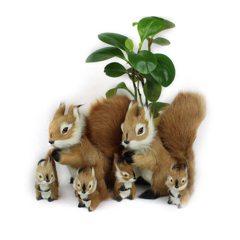 19*18cm 2 Size Stuffed Toys Lovely Squirrel Simulation Animal Stuffed Plush Toy Kids Toy Decorations Birthday Gift For Children