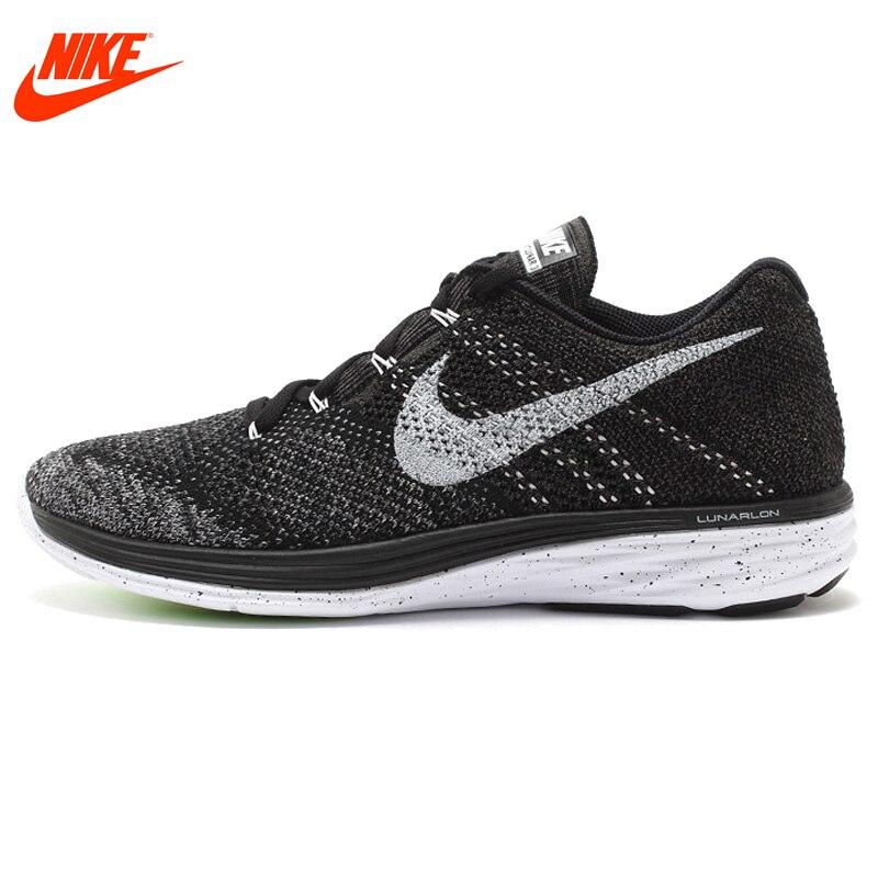 Ufficiale Nuovo Arrivo Authentic Nike FLYKNIT LUNARE 3 Maglia degli uomini di Luce Runningg Scarpe Scarpe Da Ginnastica